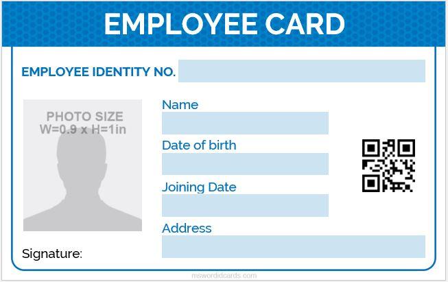 ID Card format design
