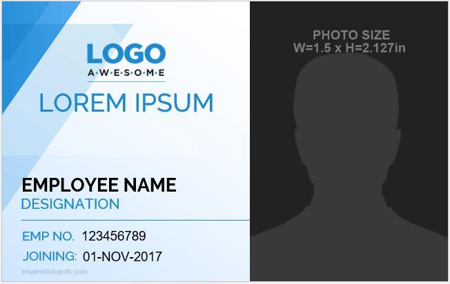 Employee id badge format
