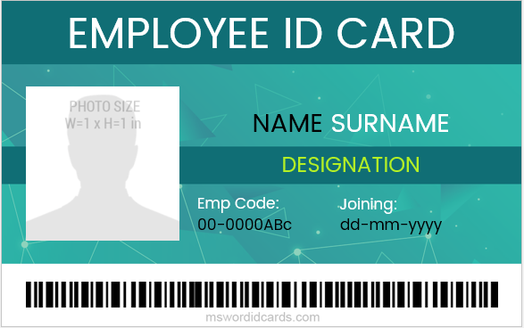 10 best ms word id cards for office employees