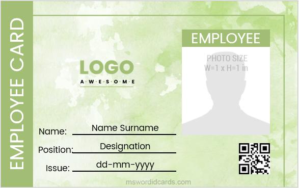 Sample Employee id badge design