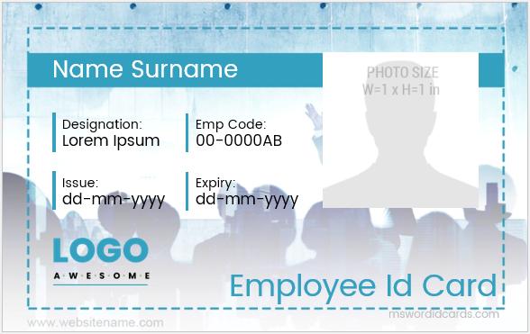 Employee id card design sample