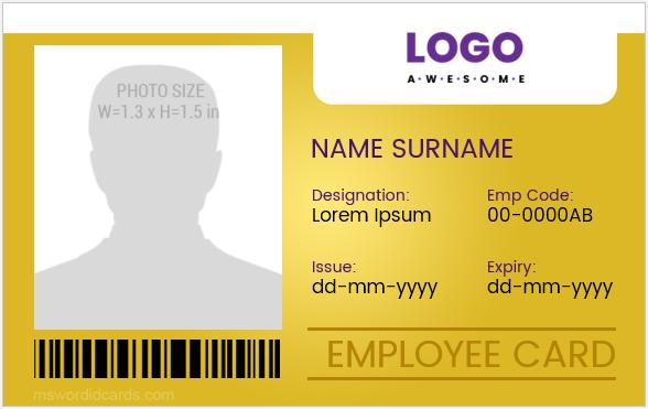Id badge templates