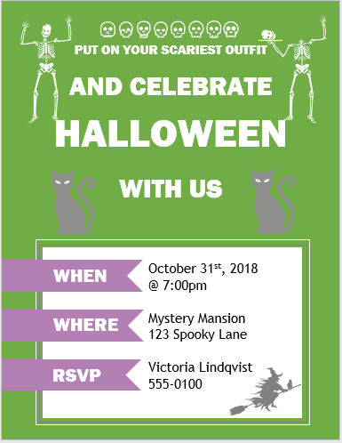 Halloween party flyer ms word