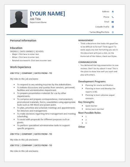 employee talent profile sheet templates