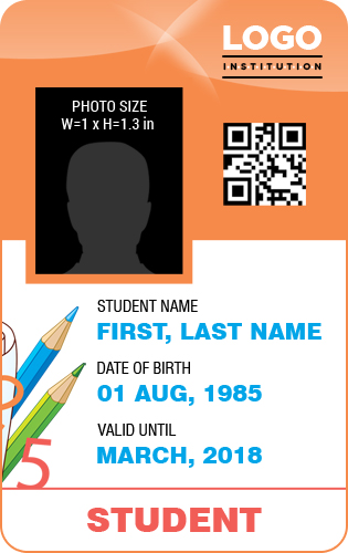 Student id badge sample