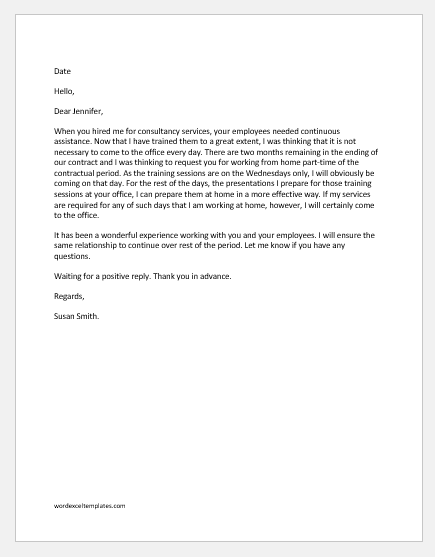 Work-from-Home-Part-Time-Request-Email-4 Letter To Parents Template on lesson plans templates, technology templates, diary templates, pta templates, teacher letter templates, library templates, forms templates, policies and procedures templates, home templates, games templates, information templates, attendance templates, announcements templates, newsletters templates, english templates, awards templates, faq templates, fact sheets templates, curriculum templates, schedules templates,