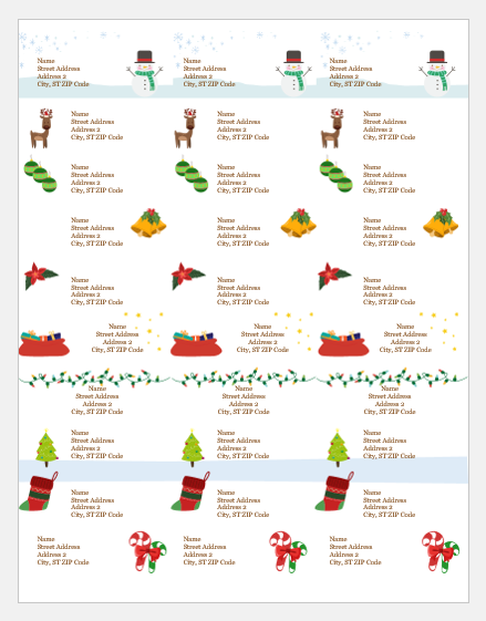 Secret Santa gift tag templates