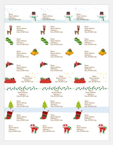 Secret Santa gift tag templates