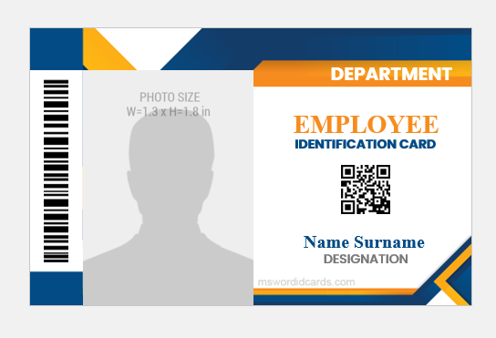 Employee id badge sample MS Word