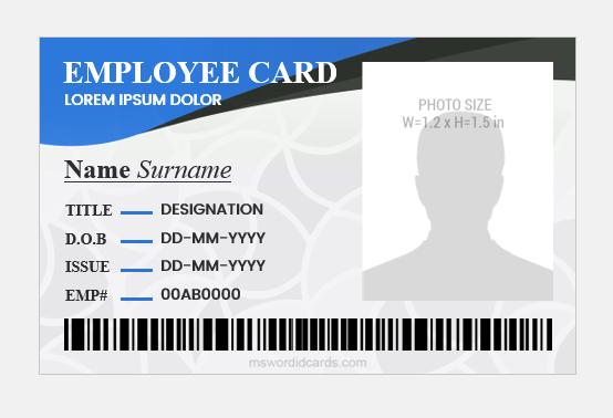 Employee id badge layout