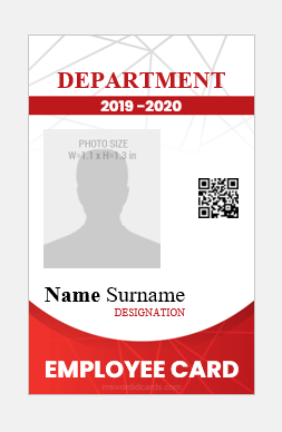 Employee id card design vertical