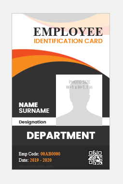 Photo id badge template vertical