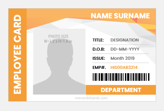 Employee ID Card sample