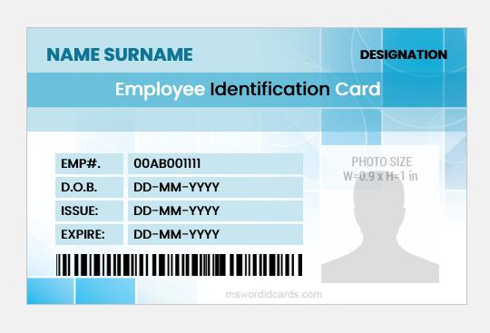Employee id card format