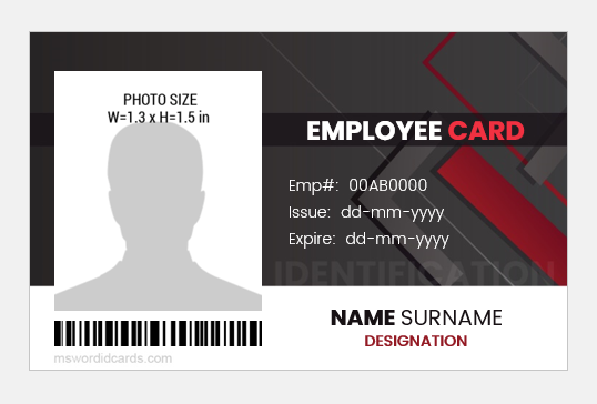 25 Photo Id Card Badges Printable Templates Word Word