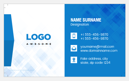 Business card for office employee