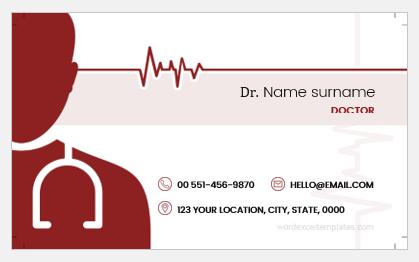 Doctor business card sample