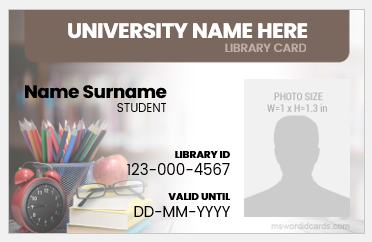 Library employee id badge