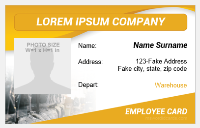 Storeroom employee id badge