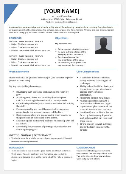 Senior account executive resume