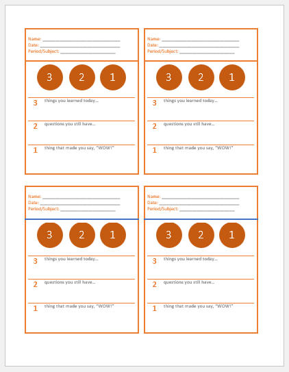 It is a photo of Exit Tickets Printable for formative assessment