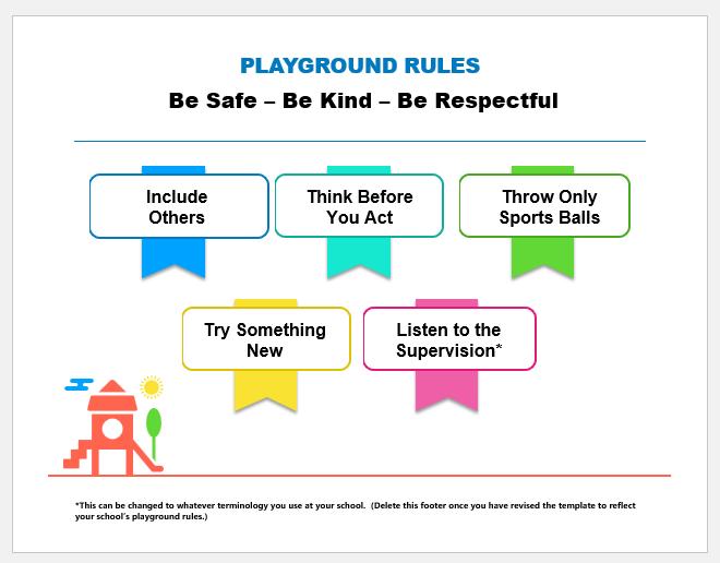 Playground rules chart
