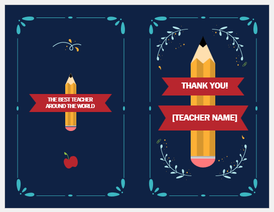 Teacher appreciation card template