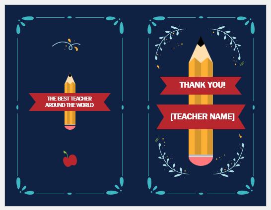 Teacher appreciation card template