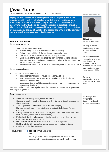 Accounts Manager Resume