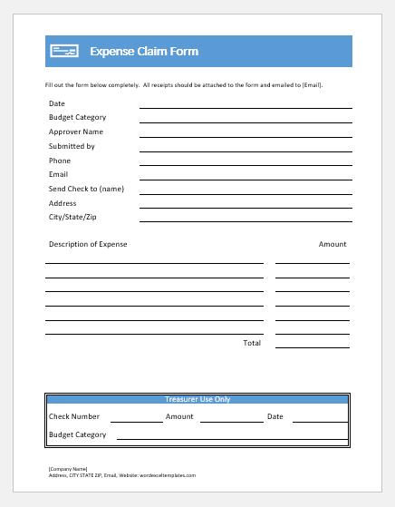 Claim Form -Petrol Claim Form Template