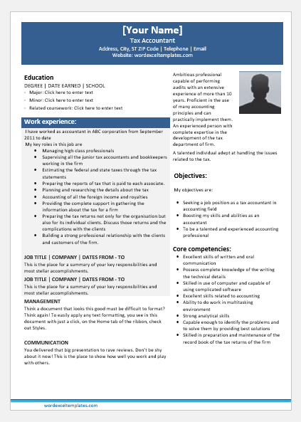 Tax Accountant Resume