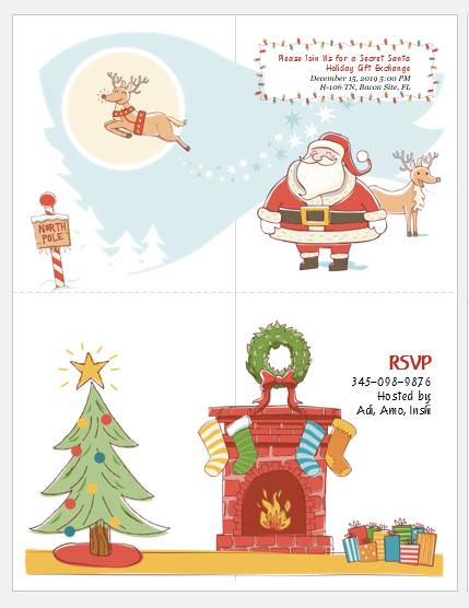 Secret Santa Gift Exchange Invitation Template