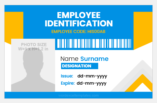 Free ID Card Template for Employee