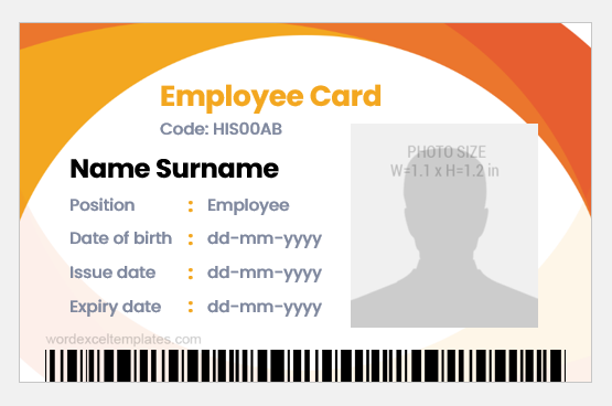 Id Card Templates For Coreldraw Word Excel Templates