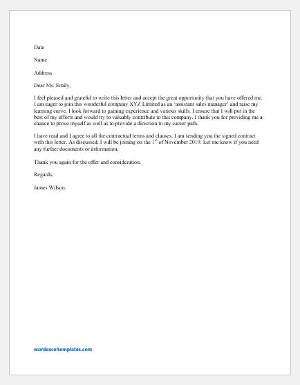 Employer Job Offer Letter from www.wordexceltemplates.com