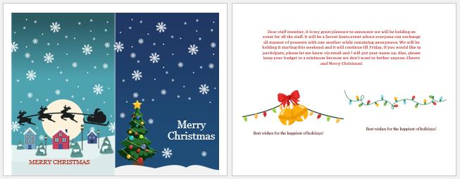 Secret Santa Invite Messages for Staff