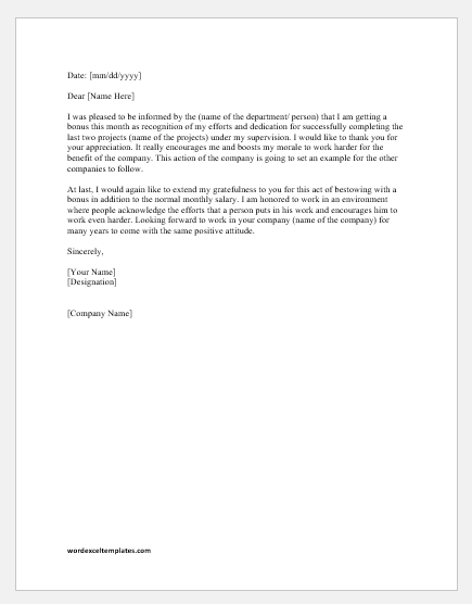 Thank You Letter To Boss For Job Opportunity from www.wordexceltemplates.com