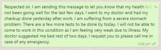 WhatsApp Leave Message