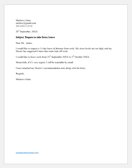 Leave Of Absence Letter Templates from cdn.shortpixel.ai