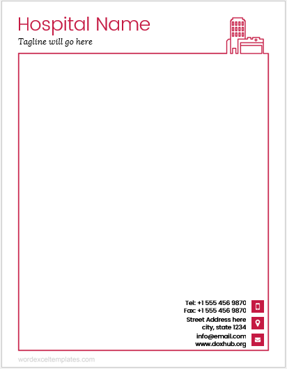 Hospital letterhead template