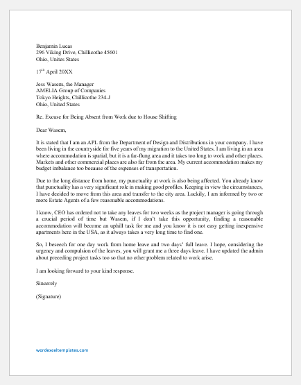 Employer Letter For Apartment from www.wordexceltemplates.com