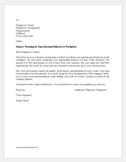 Reprimand Letter For Inappropriate Behavior from cdn.shortpixel.ai