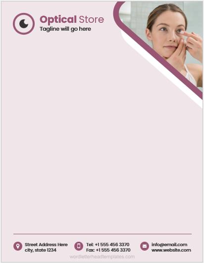 Optical store letterhead