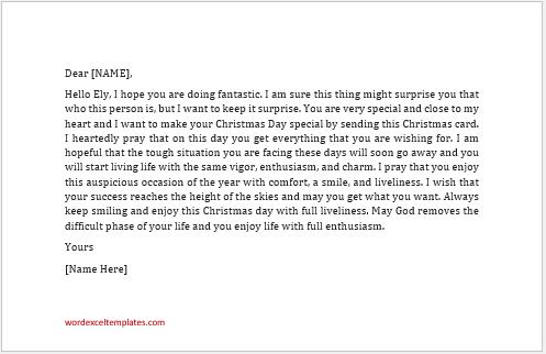 Secret Santa Gift Card Message