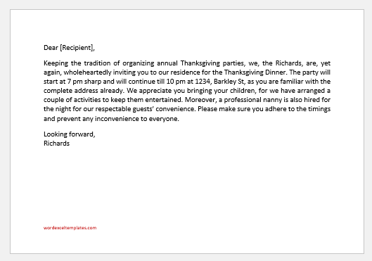 Thanksgiving Party Invitation Messages