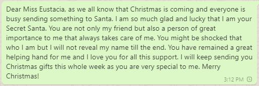 Secret Santa Christmas Wishes