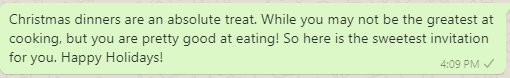 Secret Santa funny messages