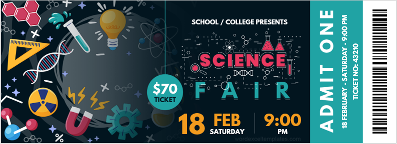 Science Fair Ticket Template