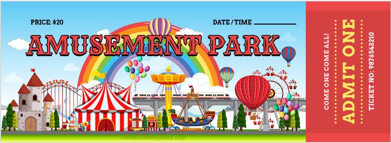 Amusement Park Ticket Template