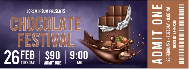 Chocolate festival ticket